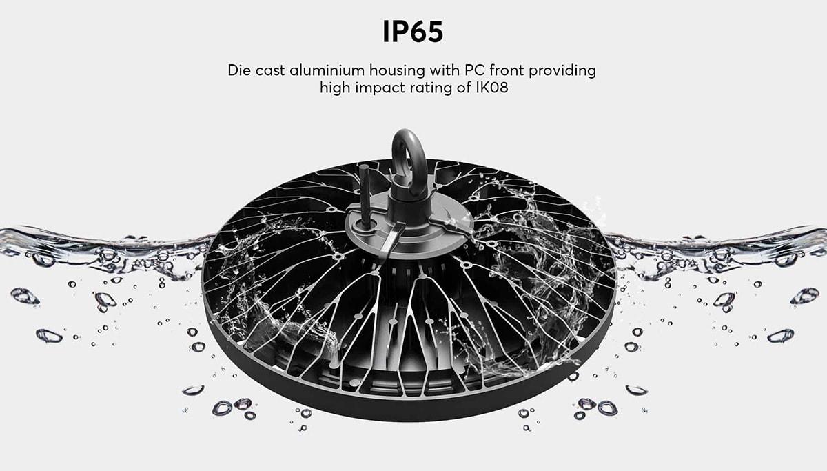 Lumière haute baie IP65 LED