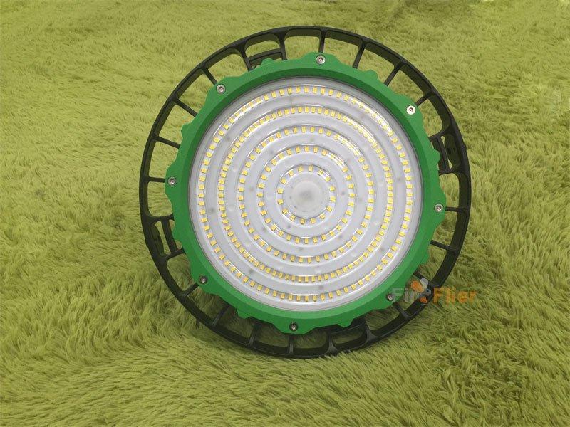anneau vert ufo led haute baie lumière