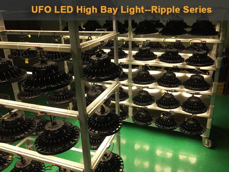 rizado ovni led luz de bahía alta