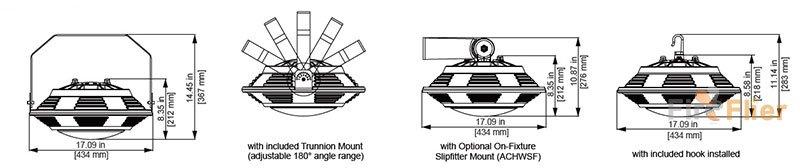 UFO LED High Bay Beleuchtungsgröße