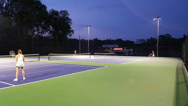 Aplicación de iluminación LED para gimnasio