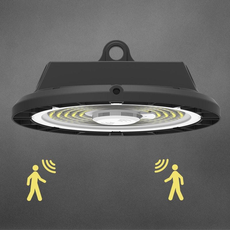 UFO LED Hochregallampe mit Bewegungssensor