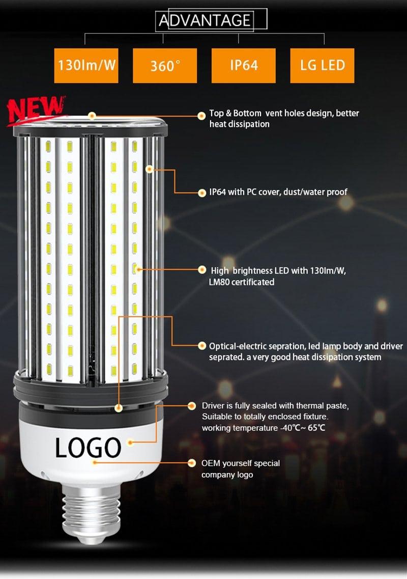 Avantage du luminaire ECL LED Corn