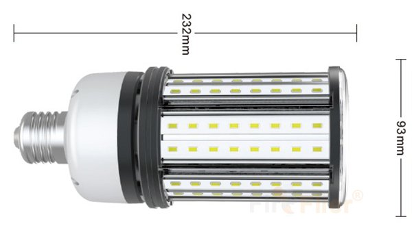 Bombilla de maíz LED sin parpadeo tamaño 36W