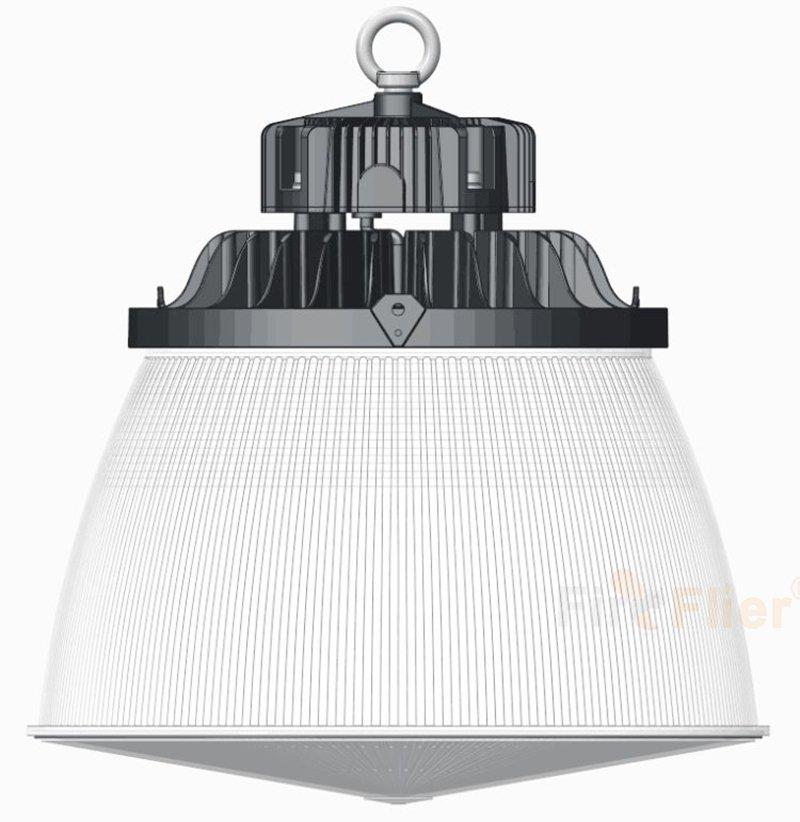 Éclairage d'entrepôt à LED avec abat-jour en PC