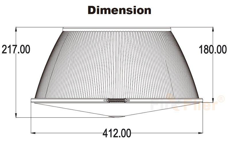 Taille du réflecteur en polycarbonate
