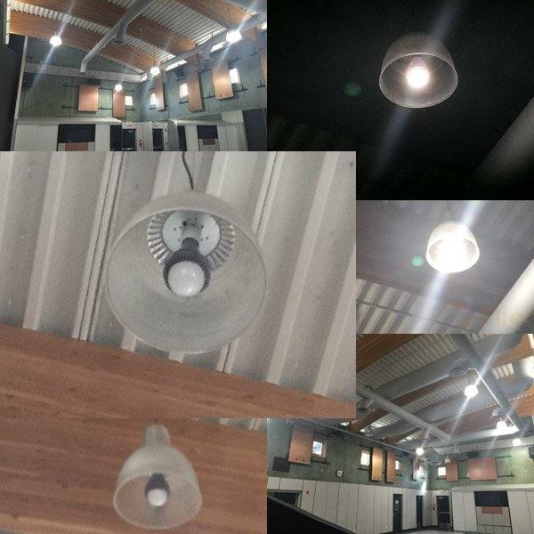 Aplicación E40 LED High Bay Bulb 100W