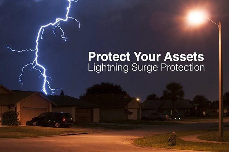 dispositivo de protección contra sobretensiones iluminación led