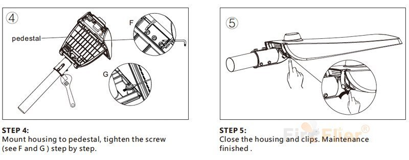 Mantenimiento de la farola LED 3