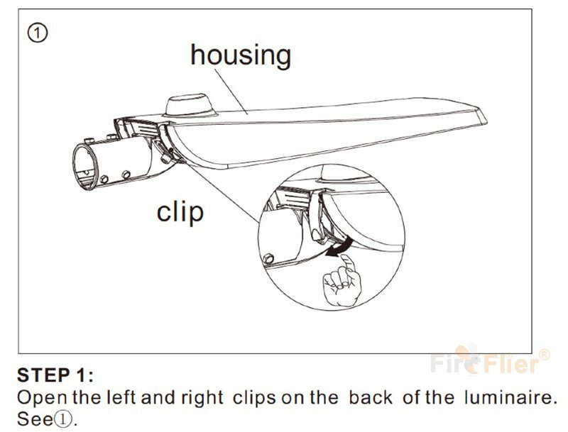 Instalación de luz de calle LED-1