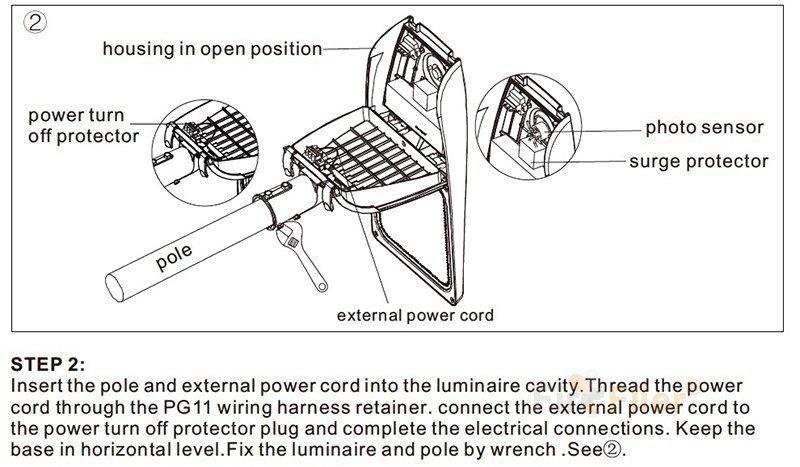 Instalación de farolas LED
