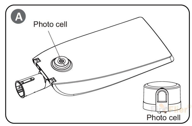 sensor de fotocélula de farola LED