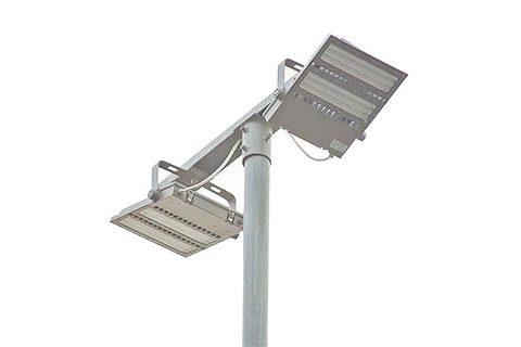 Aplicación de luz de área LED asimétrica