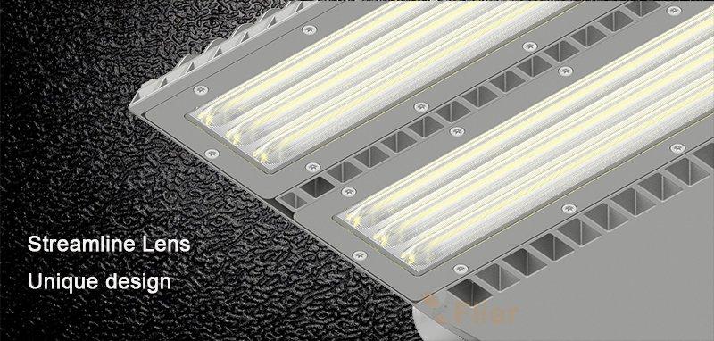 Proyector LED con lente asimétrica