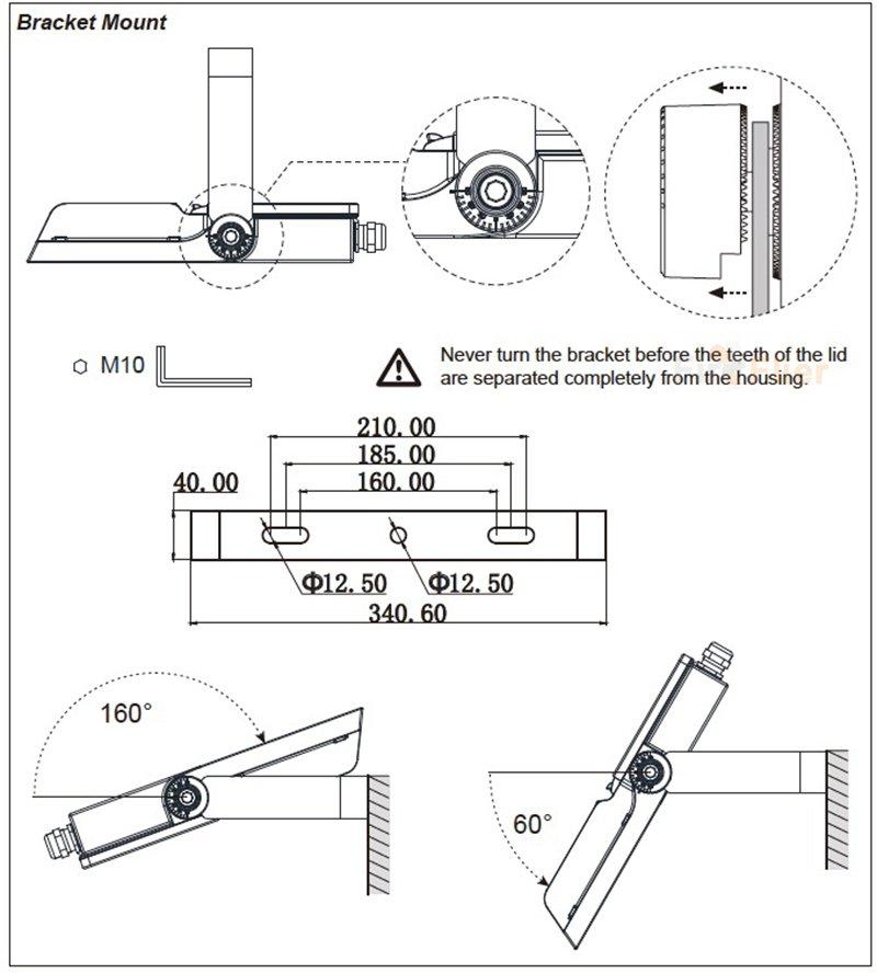 diagrama de cableado de la luz de inundación led