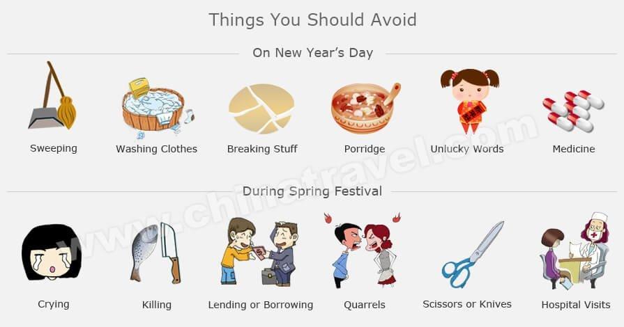 cosas que debes evitar