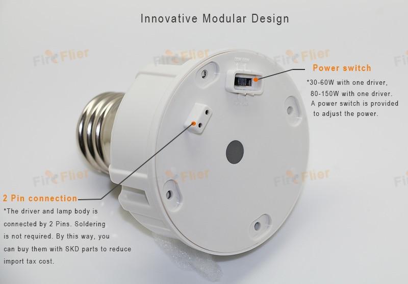 2 دبوس توصيل لمبة الذرة LED