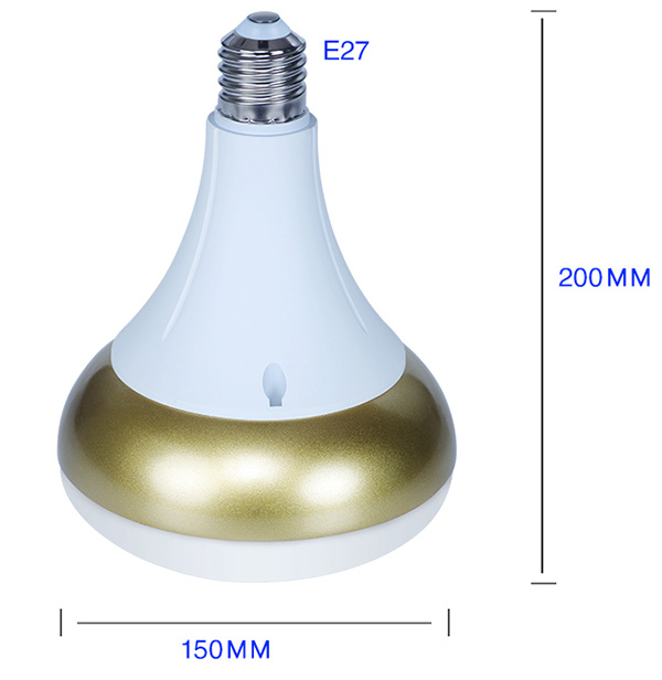 E27 LED žárovka o velikosti 36 W.