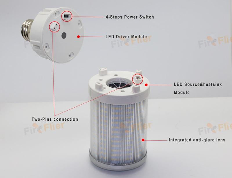 ميزات Genesis IP65 LED لمبة الذرة