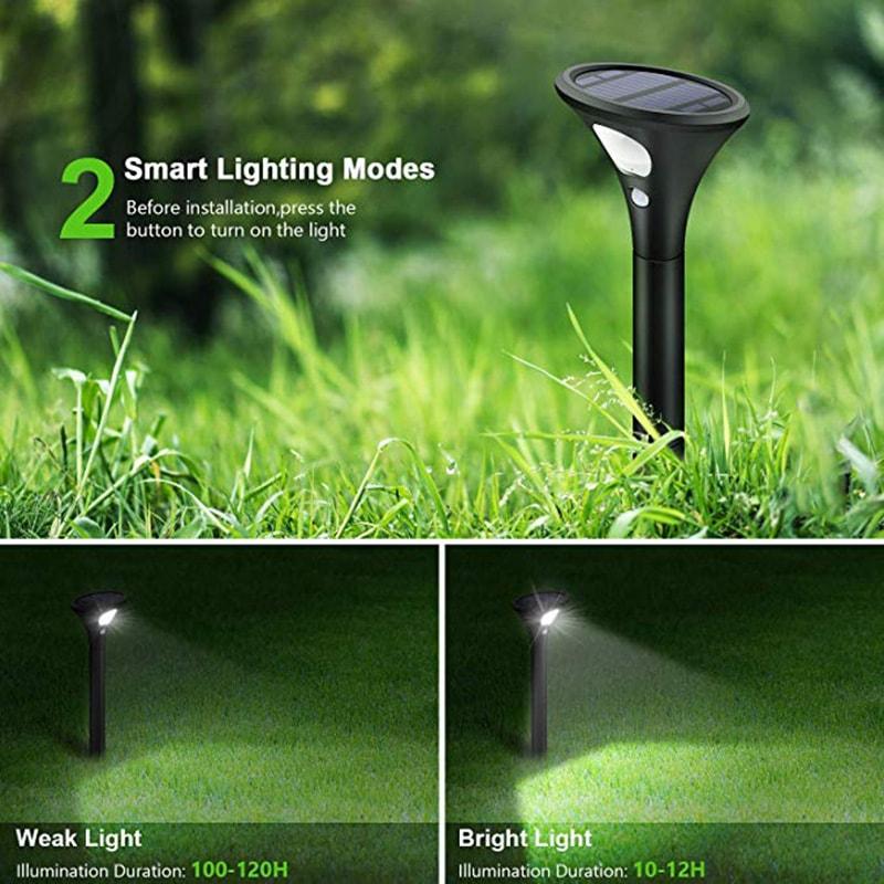 mode d'éclairage intelligent de la lumière du chemin solaire