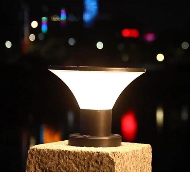 solarbetriebene Post-Top-Beleuchtung