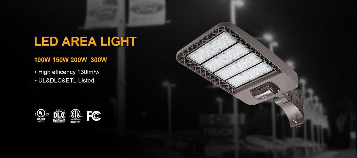 Luz de área LED 100w 150w banner