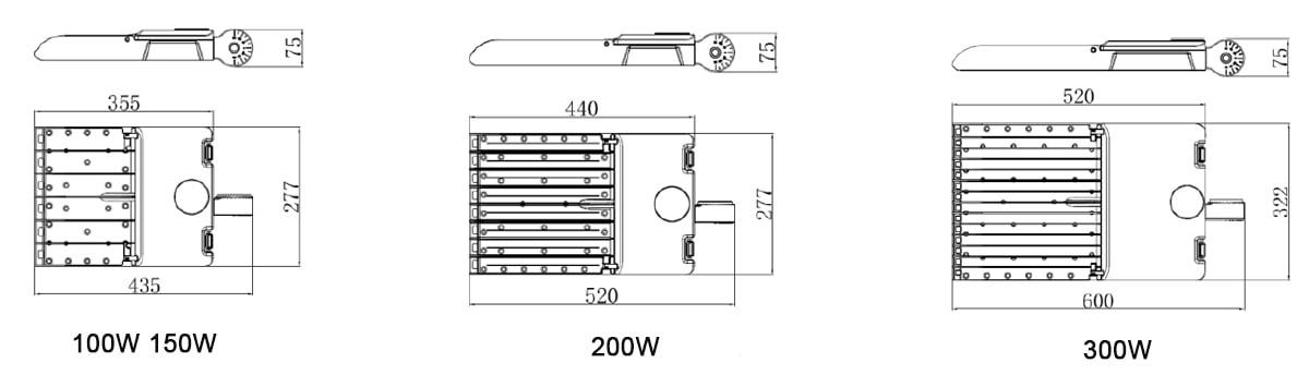 Rozměr světla LED parkovacího místa