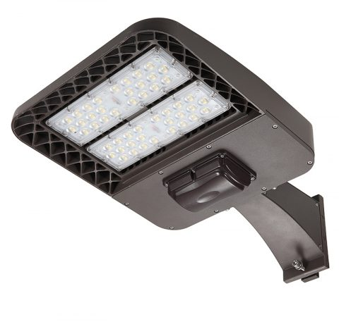 Luz LED para estacionamiento con montaje en poste cuadrado