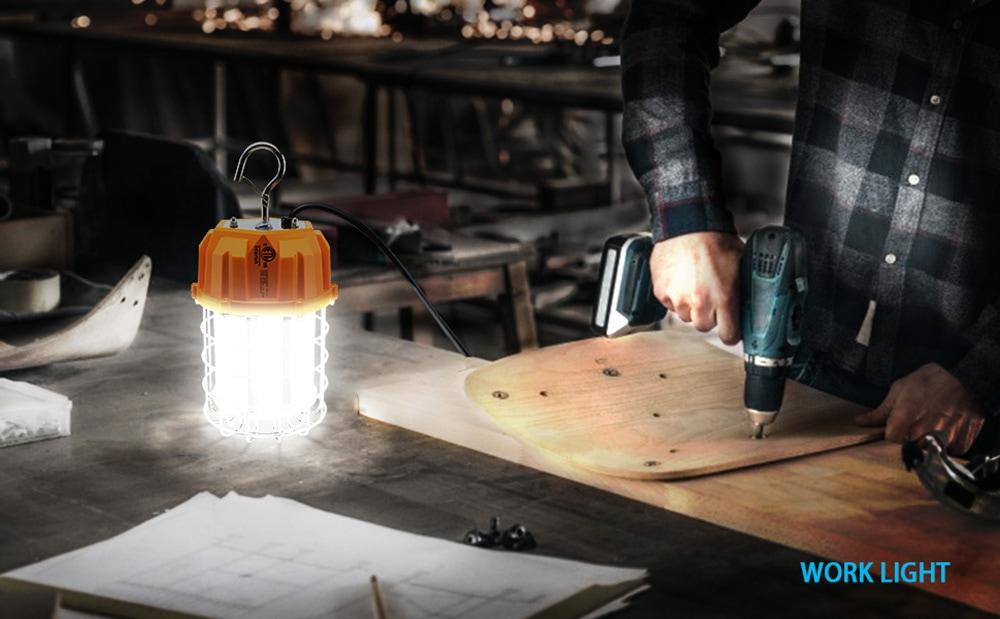 Lampe de travail de construction temporaire à LED portable