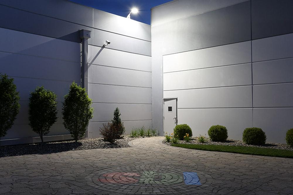 lumière de sécurité du crépuscule à l'aube