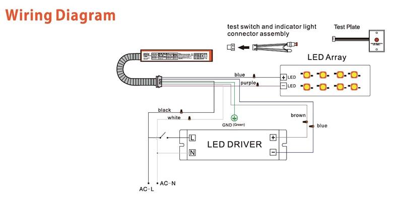 مخطط الأسلاك لسائق النسخ الاحتياطي في حالات الطوارئ للضوء لوحة