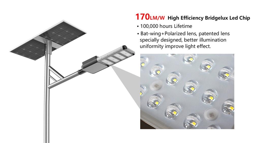 170lm solární pouliční světlo