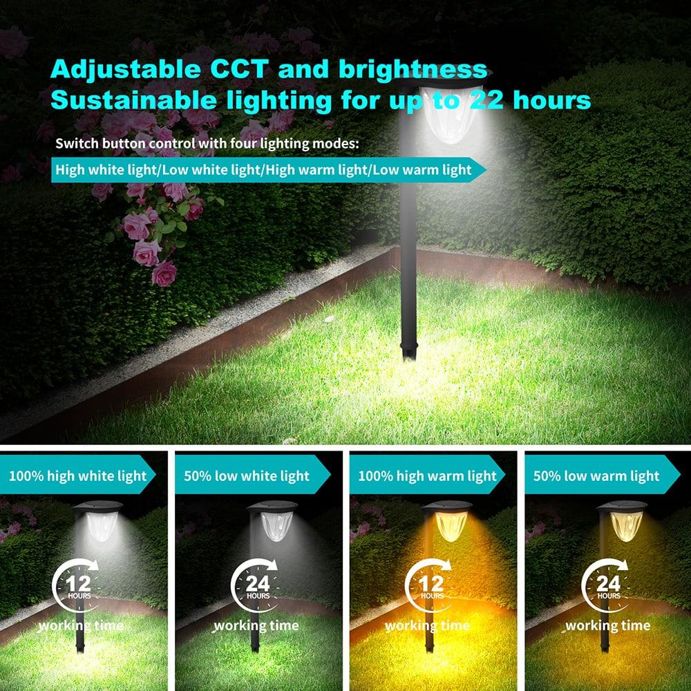 Lumière solaire de jardin à gradation
