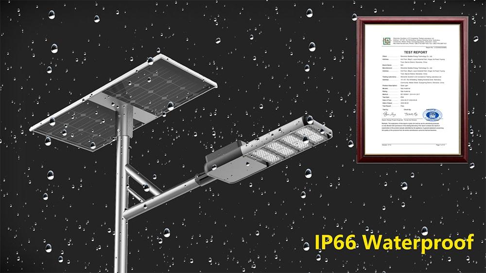 IP66 Vodotěsné solární pouliční osvětlení