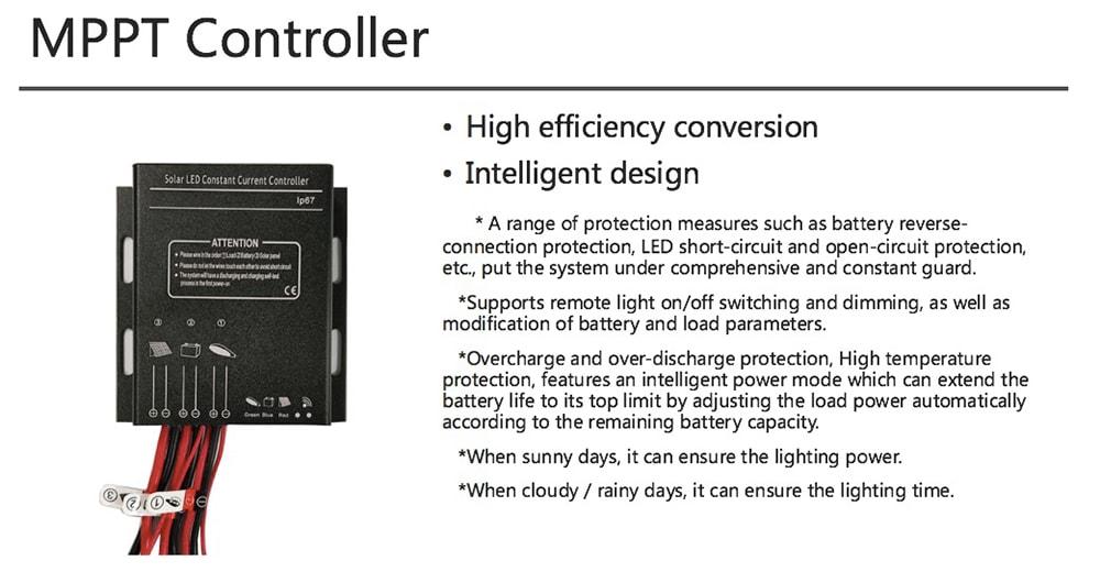 MPPT regulátor solární pouliční osvětlení