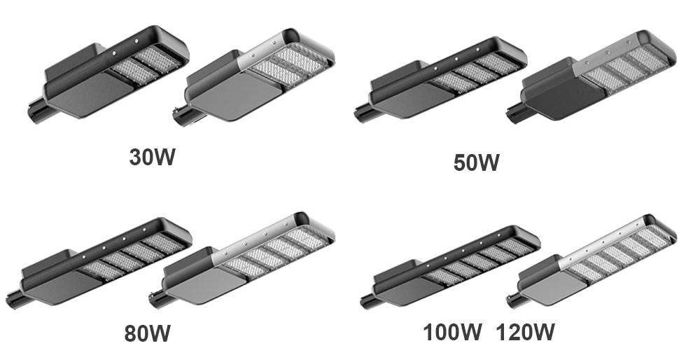 série solárních pouličních světel
