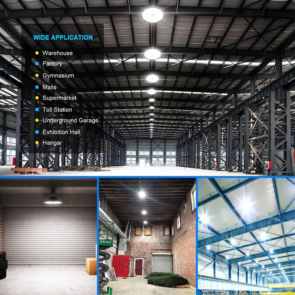 aplicación de luz LED de almacén