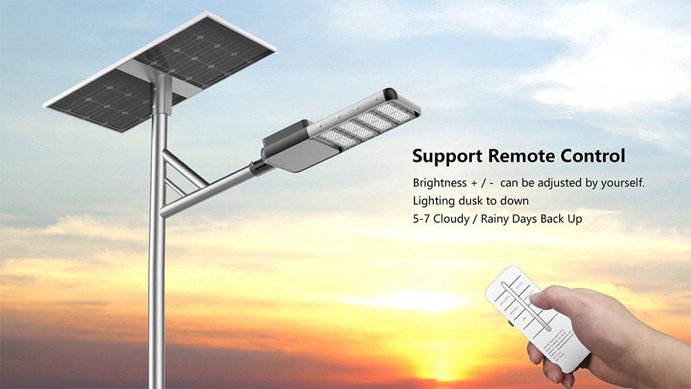 dálkové ovládání solárního veřejného osvětlení