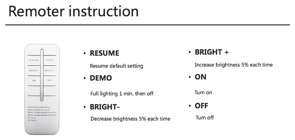 dálkový ovladač LED pouliční osvětlení