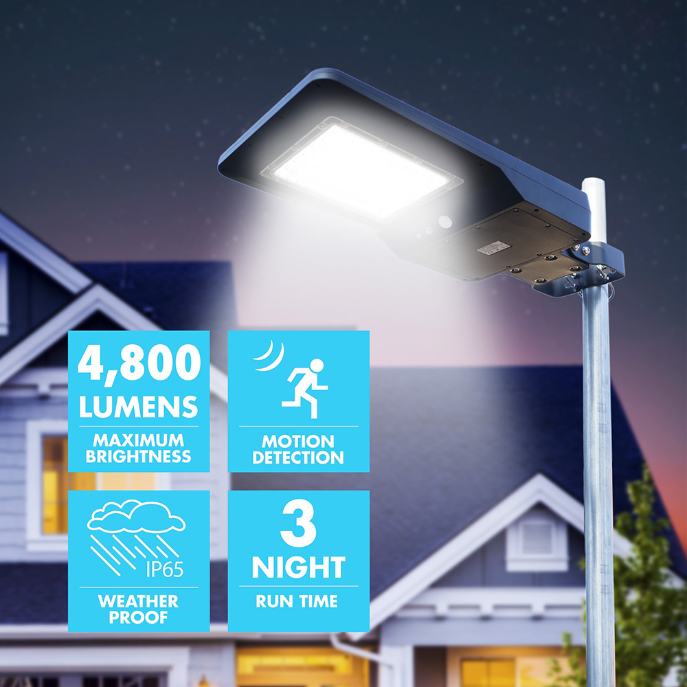 lampadaire solaire 40w 4800lumen