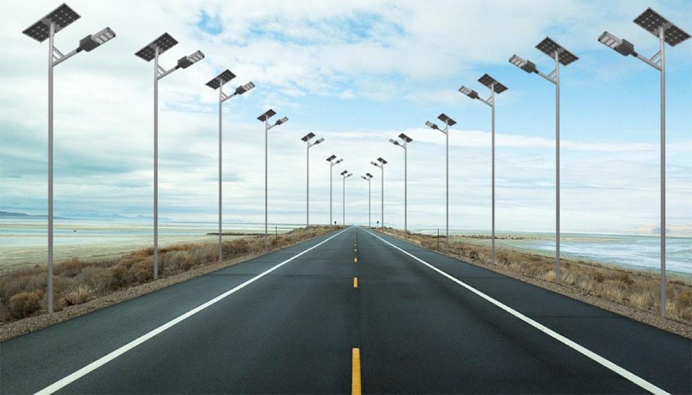 aplikace solárního pouličního osvětlení