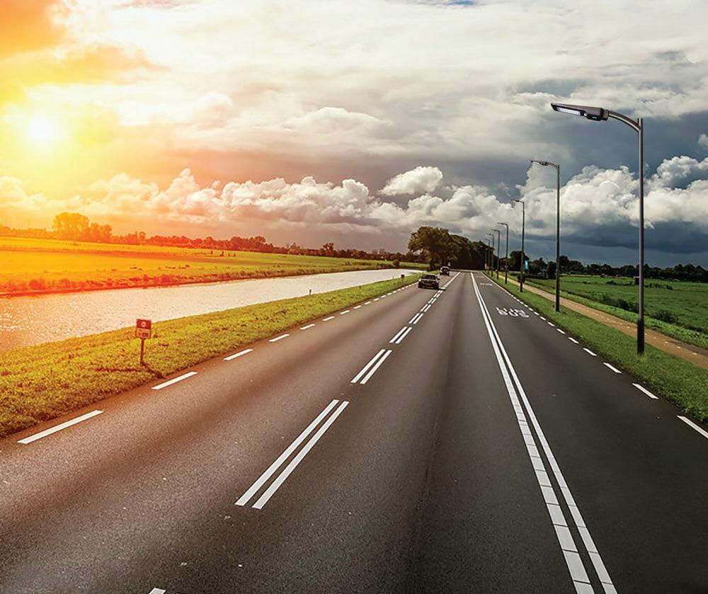 Solarstraßenlaterne für Auffahrtsbeleuchtung