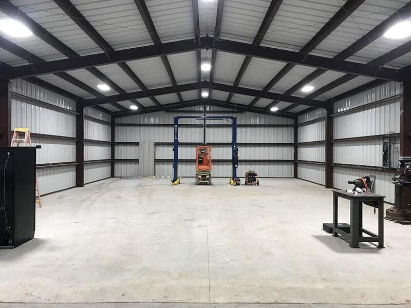 application d'éclairage d'entrepôt