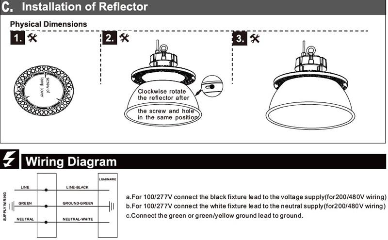 Einbau von LED-Hallenleuchte mit Reflektor